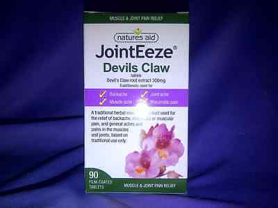 Natures Aid JointEeze® 300mg (Equiv 1050-1500mg of Devils Claw) 90 Tablets