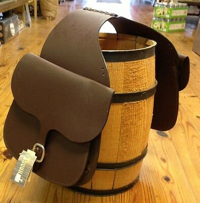 NEW Leather Saddle Bags Dark Oil