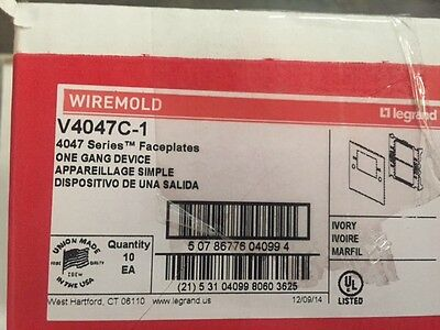 (Box of 10) Wiremold # V4047C-1 (NEW)