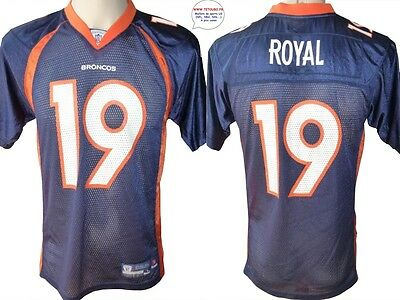 Maillot nfl Foot US américain BRONCOS N°19 Royal Taille Yth L (us) -> S (fr)
