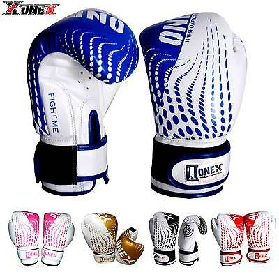 6oz Leather Boxing Gloves Fight Punch Bag Mitt MMA Muay thai Gloves Paded Gloves