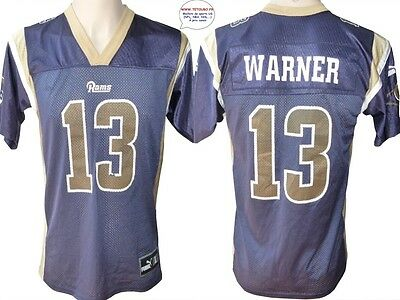 Maillot nfl Foot US américain RAMS N°13 Warner Taille Yth L (us) -> S (fr)