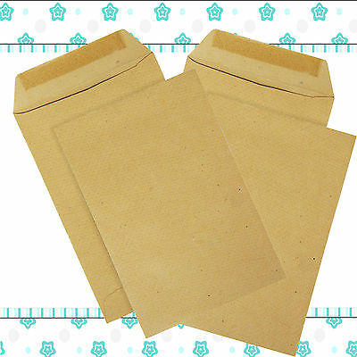 New 500 X A5 C5 Plain Manilla Brown Envelope Envelopes 80 Gsm Self Seal
