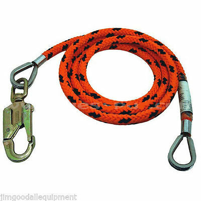 "Tree Climber Flipline,3/4"" x 15', Steel Core,Yale Maxi Flip,12 Braid,Made in USA"