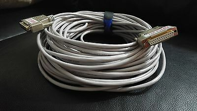 NEW!!!  20m ILDA 25pin Cable for RGB Laser  METAL  Cover CAT5