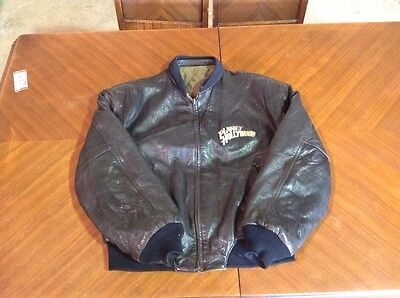 Leather reversible Planet Hollywood New York Coat Size Large