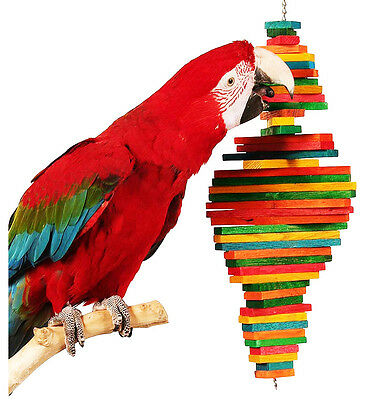 1812 Large Double Pyramid Bird Toy parrot cage toys cages macaw amazon cockatoo