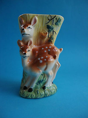 Retro Bambi And Deer Wall Or Free Standing Vase Japan