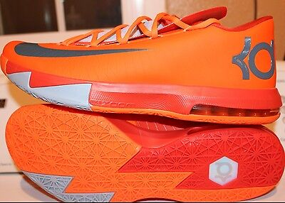 reputable site d4e44 38dc3 Nike Kd Vi 6 Nyc 66 Sz  13.0 Orange Kevin Durant New Rare Authentic  Basketball