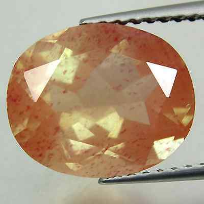 3.43 cts Natural Oval-cut Fiery-Luster Orange VS Andesine-Labradorite