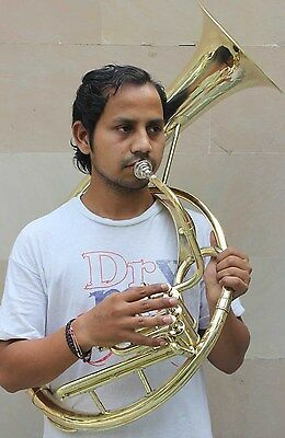 """Sousaphone (Helicon) 10"""" Bb Bell  3V Shinning Brass+Bag M/Piece Fast Shipping"""