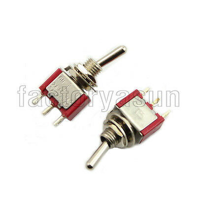 5PCS Red  Toggle Switch SPDT 3 Position ON-OFF-ON 3-PIN 12V 6A Silver Contacts