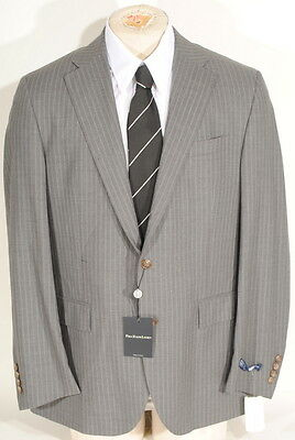 Ralph Lauren Polo Wool Grey 2 Button Blue Pinstripe Suit 46L 40W Italy $1595