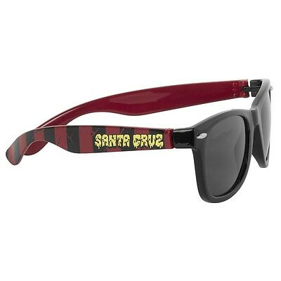 Santa Cruz BREAK DOWN Wayfarer Style Skateboard Sunglasses BLACK/OXBLOOD
