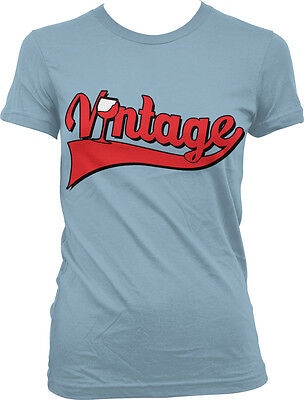 Vintage Wine Glass Red Old Classic Aged Year Vine Good Art Soul Juniors T-Shirt
