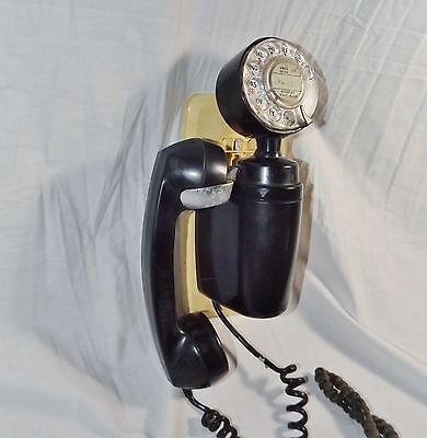 Vintage Art Deco Wall-Mounted Telephone by Automatic Electric Co., Retro, steam