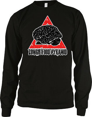 Zombie Food Pyramid Brains Diet Eat Groups Undead Feed On Living Men's Thermal