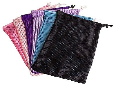 Ballet Pointe Shoe Mesh Drawstring Toe Shoe Bag Black, Pink, Purple, or Blue