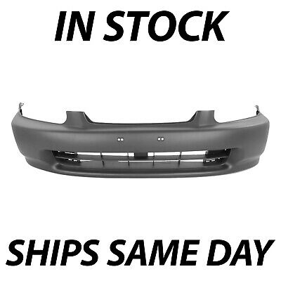 NEW Front - Bumper Cover Fascia - Primered for 1996-1998 Honda Civic Coupe Sedan