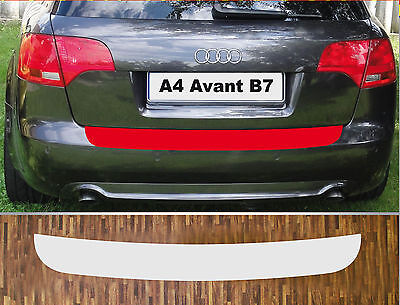 Bumper Protection Paint Protection Foil transparent Audi A4 B7 Avant, Year 04-08