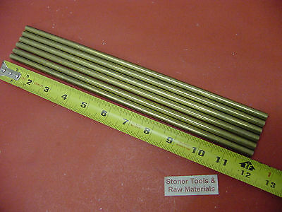 "6 Pieces 3/8"" C360 BRASS SOLID ROUND ROD 12"" long New Lathe Bar Stock .375"""