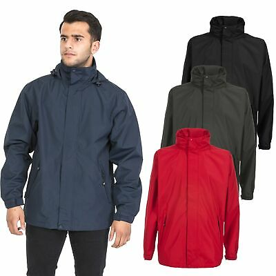 Trespass Boncarbo Mens Windproof Rain Coat Waterproof Lightweight Hooded Jacket