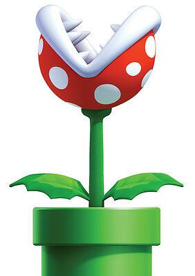 Sticker Autocollant Poster A4 Jeux Video Nintendo Super Mario Bros.plant Piranha
