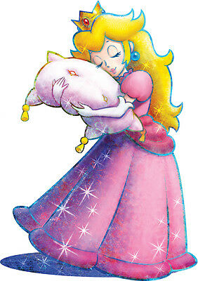 Sticker Autocollant Poster A4 Jeux Video Nintendo Supe Mario Bros.princess Peach