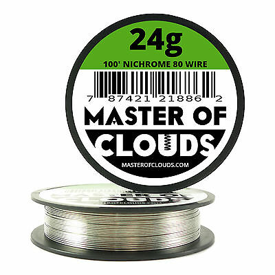 Nichrome 80 - 100 ft. 24 Gauge AWG Round Resistance Wire 0.51 mm 24g GA 100'
