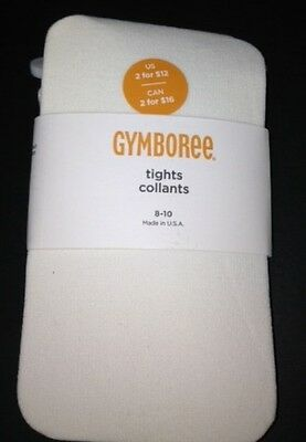 Gymboree Uniform Shop Ivory Solid Basic Tights 3 4 5 7 8 10 12 Nwt