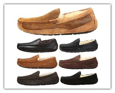 Mens UGG Ascot Slippers Suede Leather Loafer Outdoor Slipper NEW Authentic