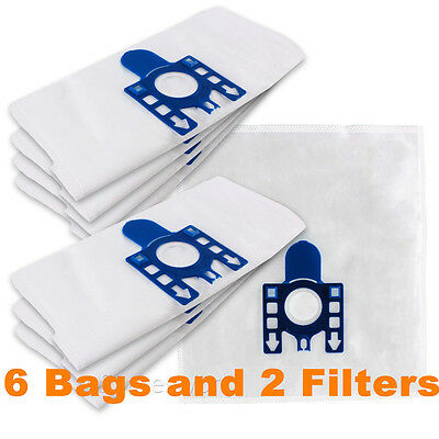 6 Bags 2 Filters Replacement Vacuum Bags for Miele GN S5111 S5212 S5311 S5211