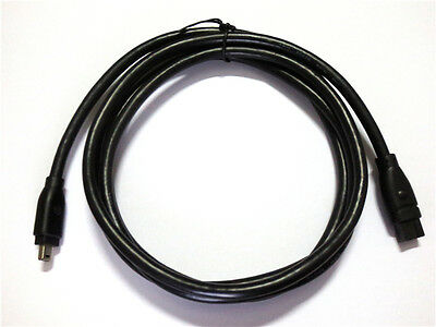 FIREWIRE IEEE 1394B Cable 9 to 4 pin DV Lynx for iMac Macbook Pro 4-9 6 feet