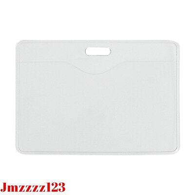 10 PCs Clear Plastic Horizontal Name Tag ID Card Holder ***AUSSIE SELLER***