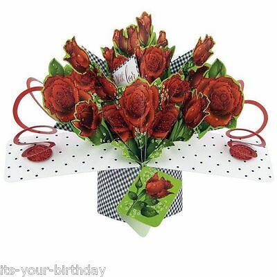 Second Nature Keepsake 3D Pop Up Card Roses With Love