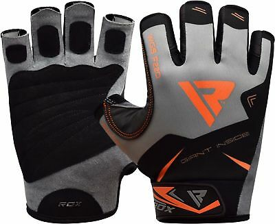 RDX Weight Lifting Gym Gloves Training Workout Fitness Wrist Support Exercise