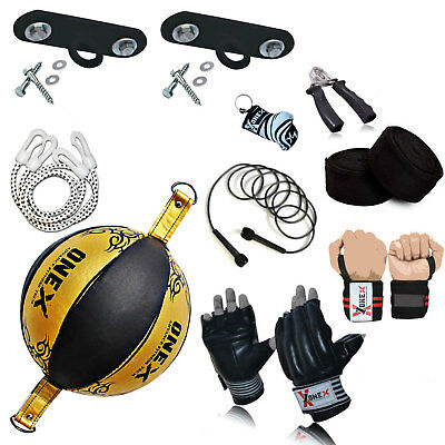 New Double End Speed Ball Floor to Ceiling Dodge Training Boxing Set Free Gift