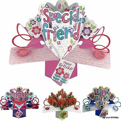 Second Nature Keepsake 3D Pop Up Card Special Friend Free Postage