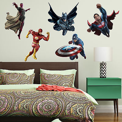 SuperHeroes Kids Boy Girls Color Bedroom Vinyl Decal Wall Art Sticker Gift JL