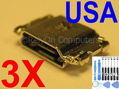 3x Micro USB Charging Port Sync For Samsung Galaxy Tab A 8.0 SM-T350 SM-T350N US