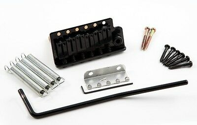 Dragonfire Strat Tremolo Brass Block- Stainless Steel Saddles- FITS MIM! BLACK!