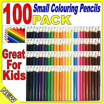 100 Pack Small Coloured Pencils