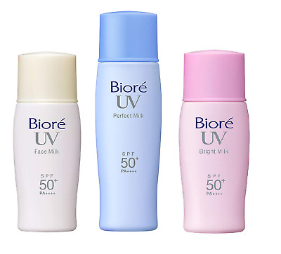 3 Pcs Biore Sunscreen UV Perfect Milk SPF50+ PA++++ JAPAN Import Free ship w/Tr