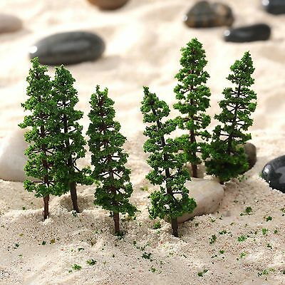 10Pcs 9cm Pine Trees Model Garden Park Street Train Railway Scenery HO N Layout