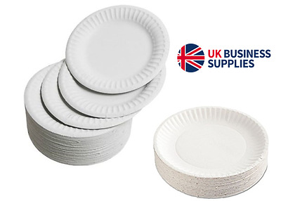 "9"" Disposable Paper Plates 23cm - 500 - 1000 Plates Perfect for Parties & Events"