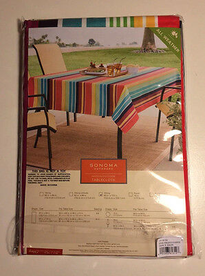 """Sonoma Outdoors Indoor/Outdoor All Weather 60"""" x 102"""" OblongTablecloth"""
