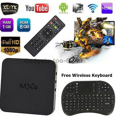 Quad Core Android TV Box Fully Loaded XBMC KODI Free Sports Film Movies UK Stock