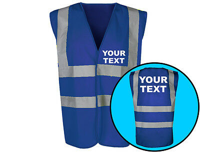 Your Text Personalised Hi-Vis Safety Vest Workwear Adults (6 Colours)