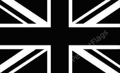 UNION JACK BLACK FLAG - UNITED KINGDOM FLAGS - Hand, 3x2, 5x3, 8x5 Feet