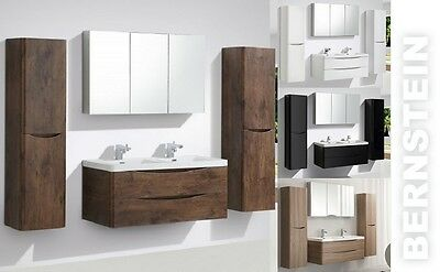 Wall Hung,Wall Mounted Vanity SMILE 1200,Mirror G1200,Side Cabinet,in 4 colours